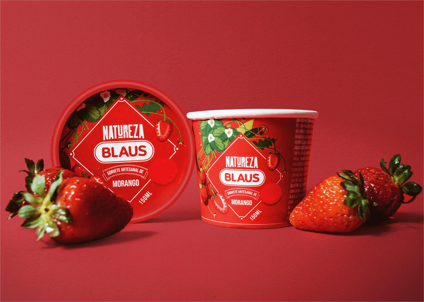 Amazon amazonia embalagem ice cream Packaging Paper Cup Sorbet ILLUSTRATION  origins