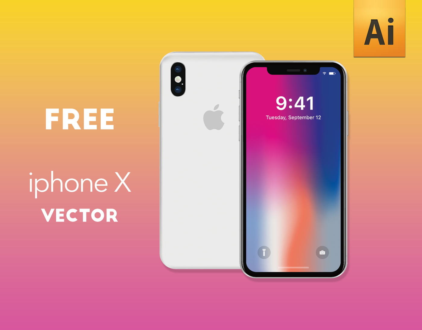 iphone x vector free ai on behance