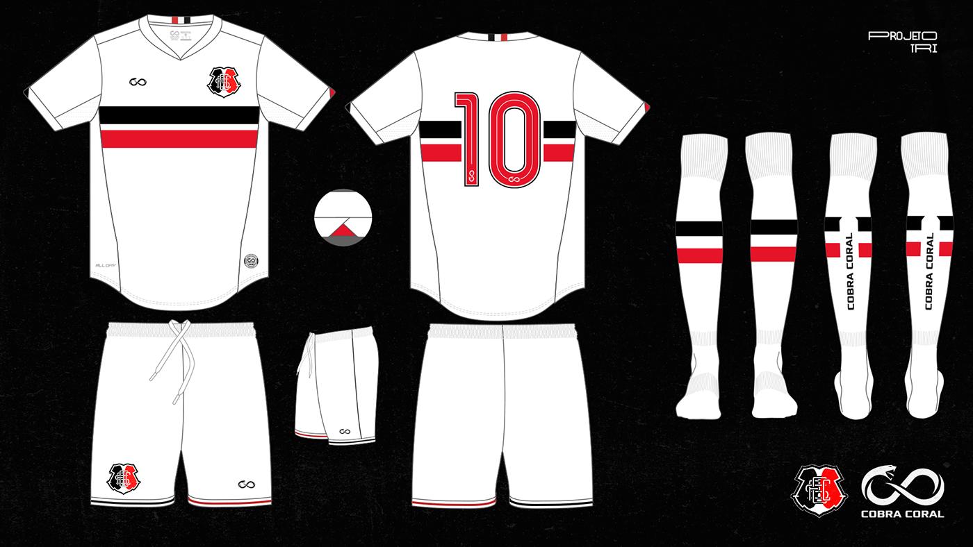 camisa cobra coral cravo19 CRUZ jersey Paulo Lima recife santa uniforme