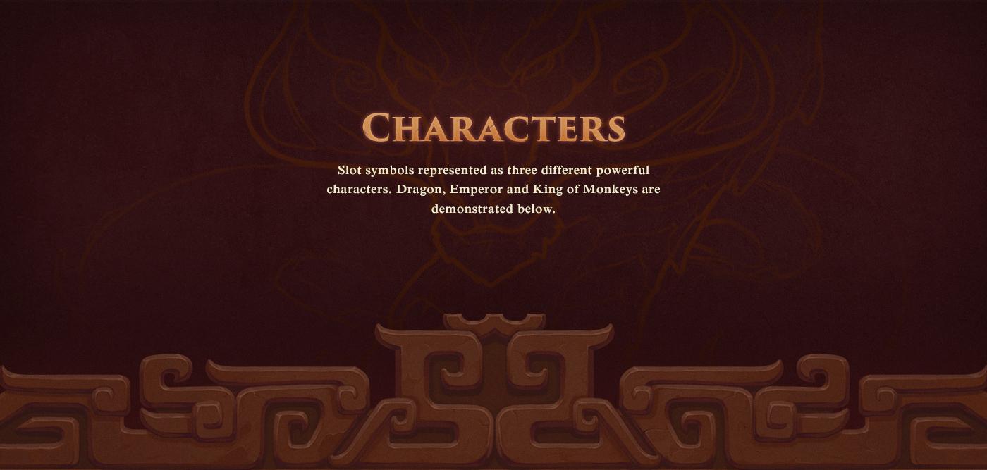 Character slot game Poker dragon fantasy background assets creature Slots
