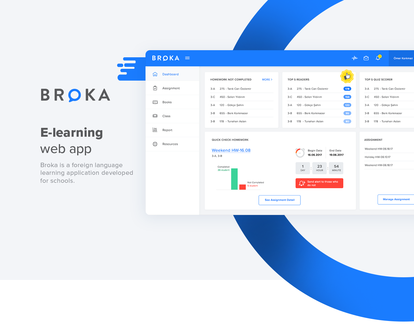 webapp e-learning Education learning Reading dashboard report student teacher management