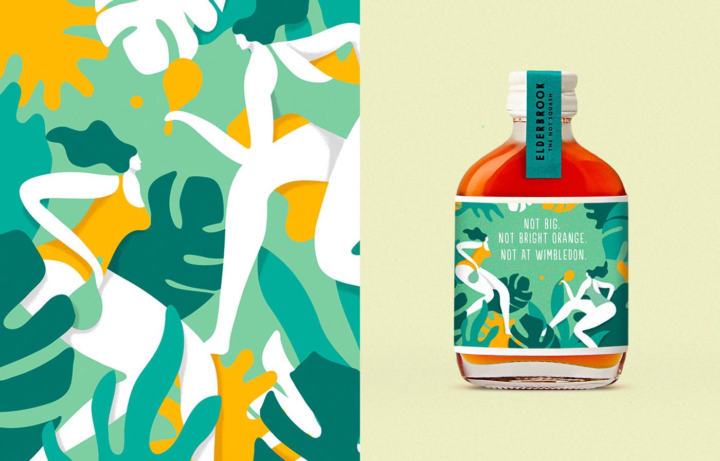 drinks Packaging healthy Coconut ILLUSTRATION  beverage Label bottle
