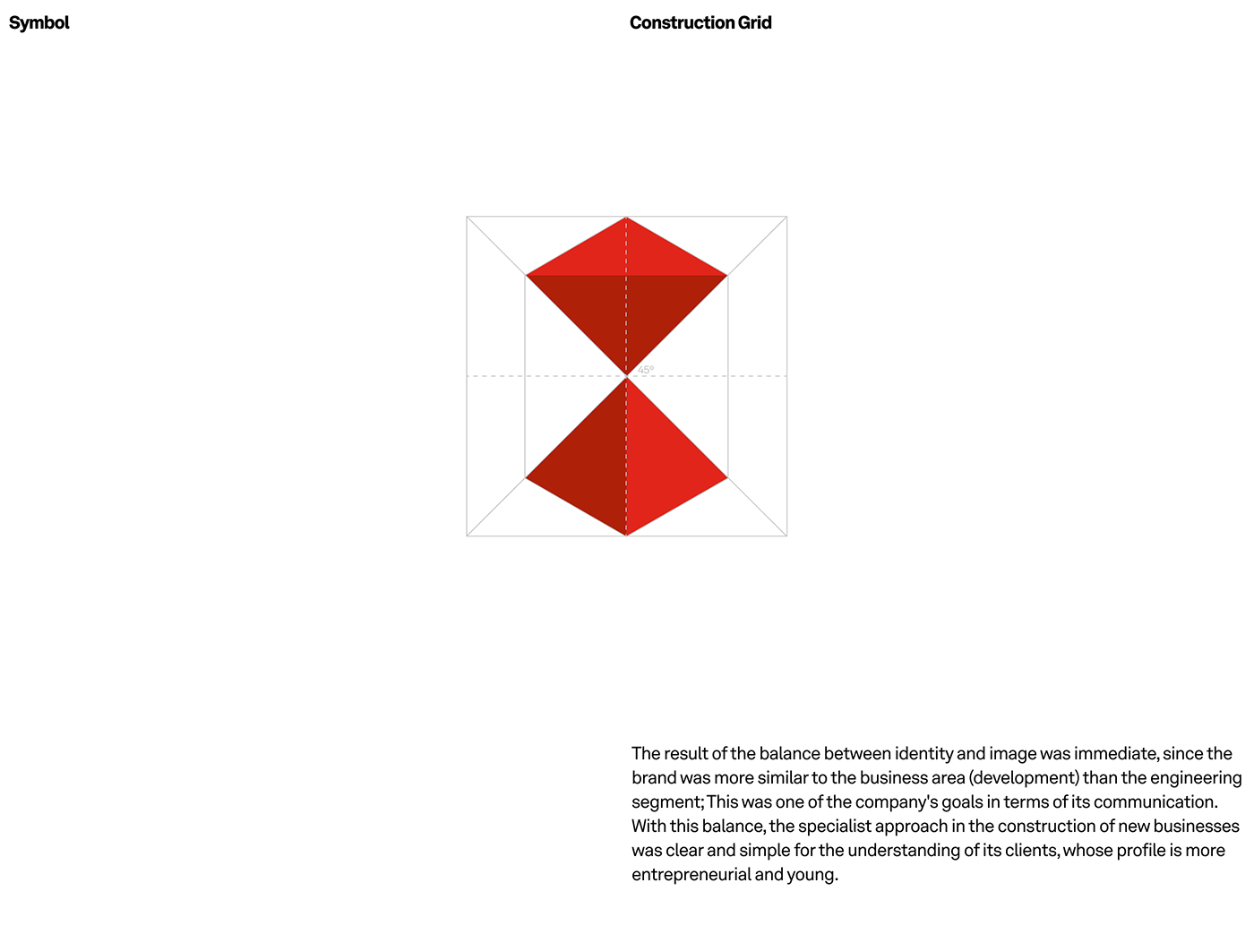 Brava, design construction grid of the symbol