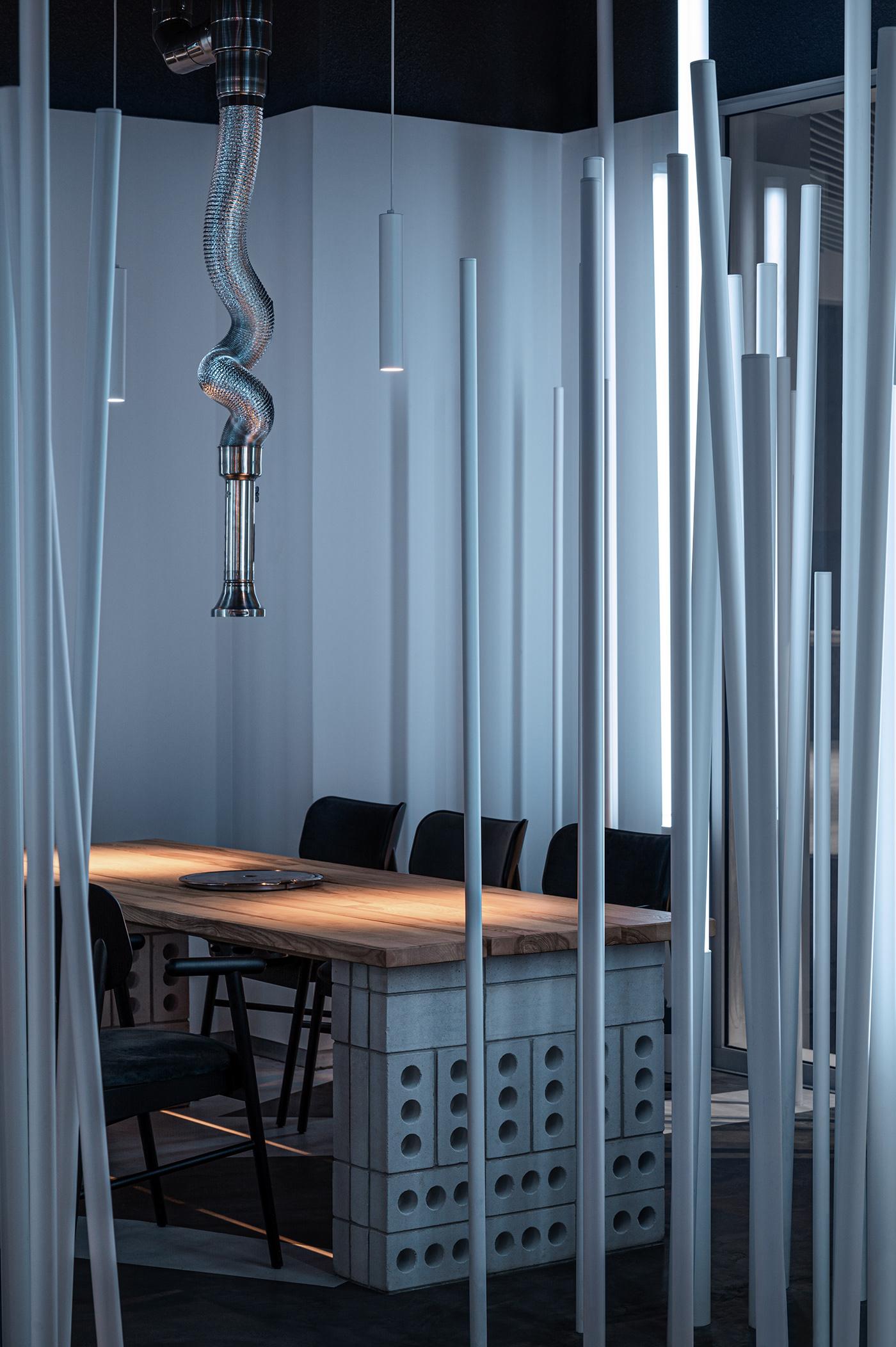 architecture Balbek Bureau custom-made elements Interior Interior Architecture interior design  restaurant design restaurant interior interior lighting Lighting Design