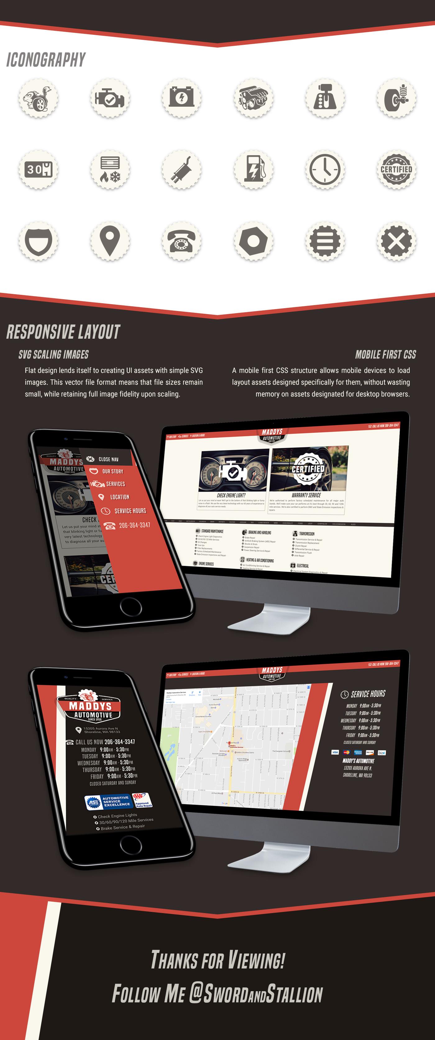 Website design Responsive mobile automotive   Cars Repair JavaScript