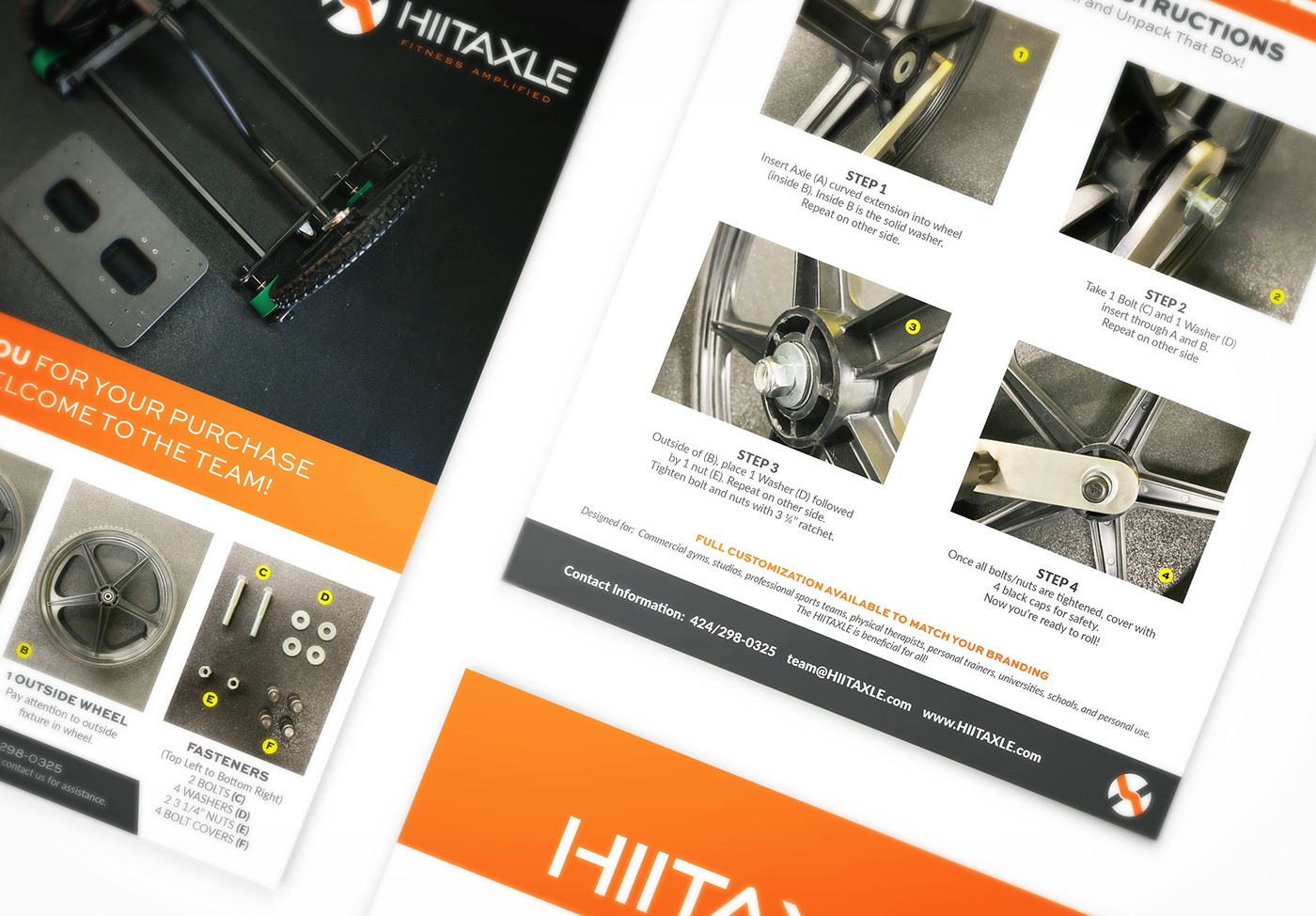 Assembly instructions brochure for the HIITAXLE