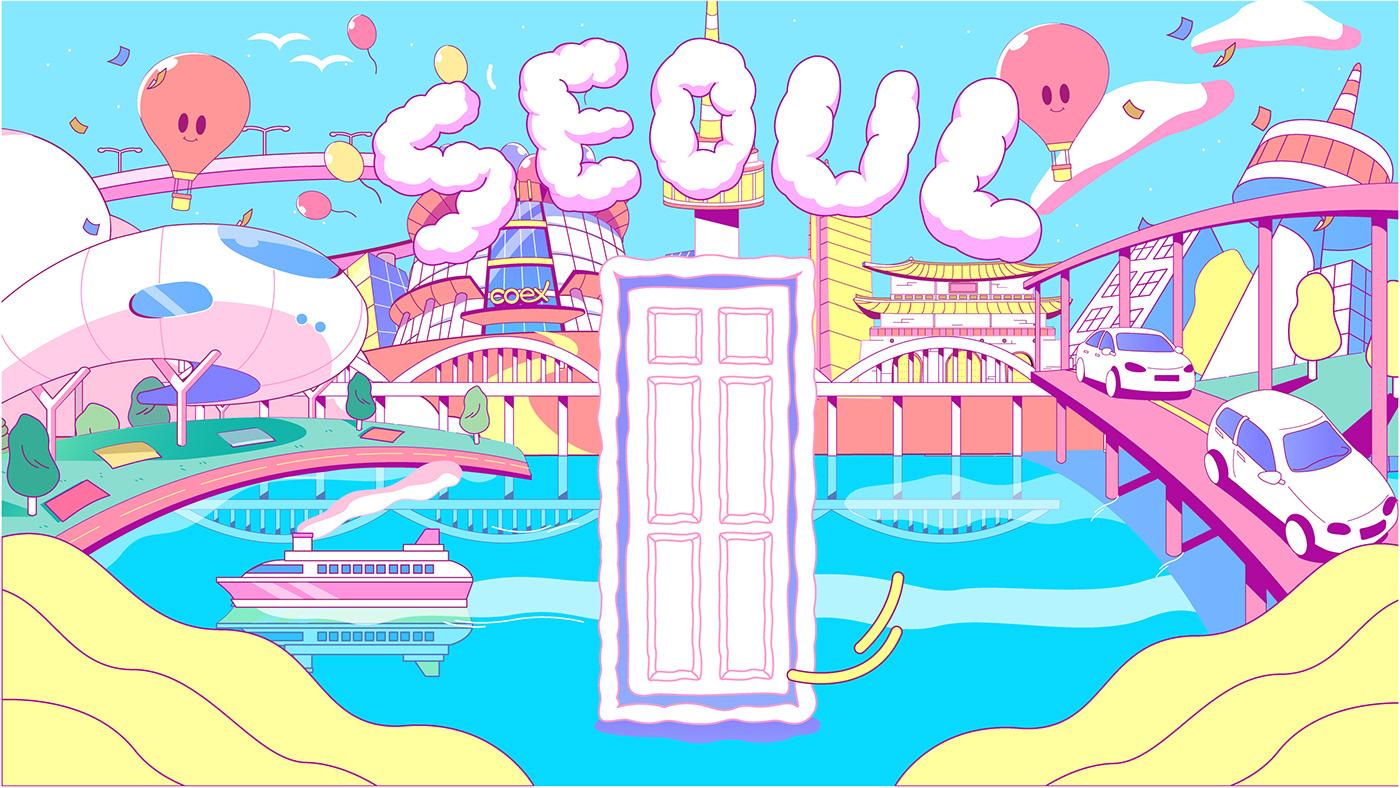 animation  bts ILLUSTRATION  Illustrator Korea motiongraphics portfolio Promotion 방탄 방탄소년단