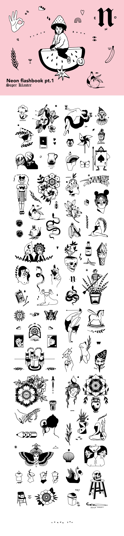 illustrations ILLUSTRATION  flashtattoo tattoo tattoo illustration sketchbook