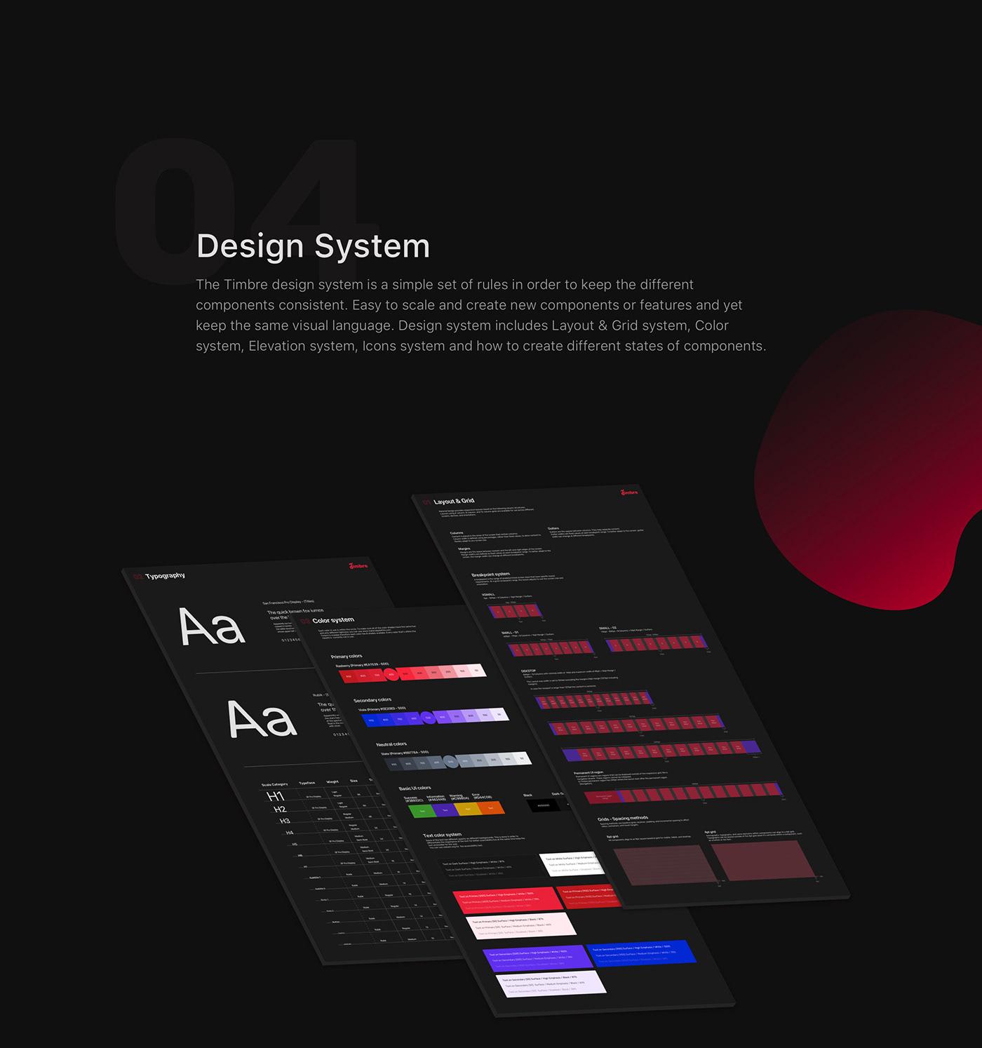 app mobile design music musicapp responsive app sketch timbre UI uikit ux