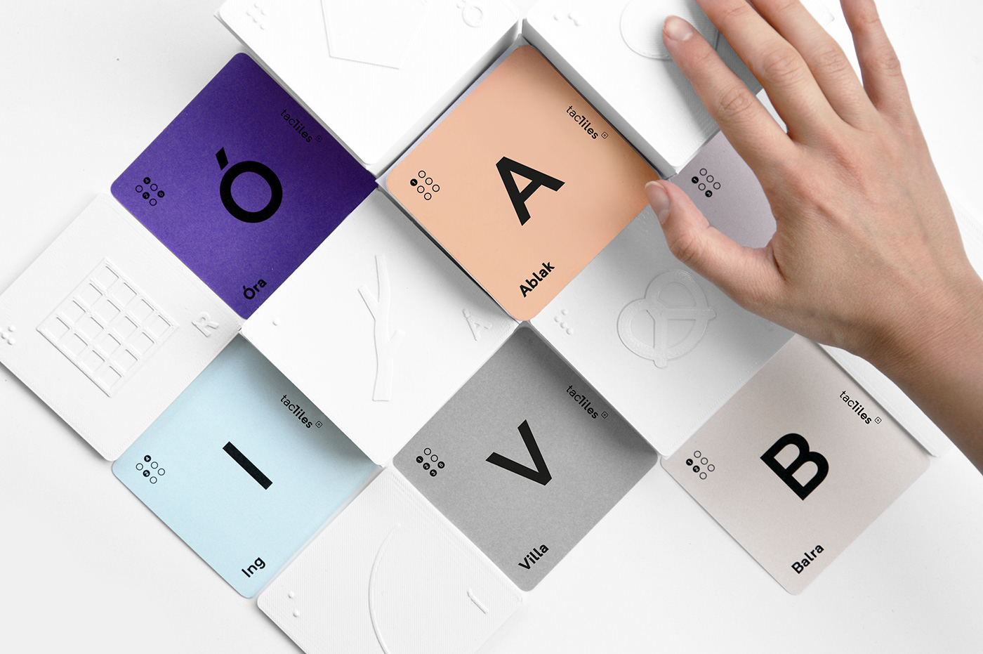 tactile blind Education 3D print typo ILLUSTRATION  touch letters Braille