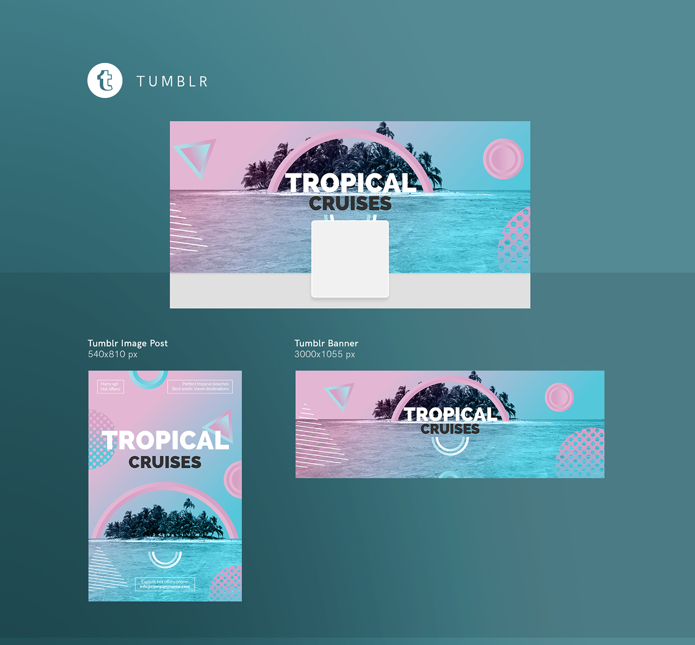 Tropical Cruises | Modern and Creative Templates Suite on Behance