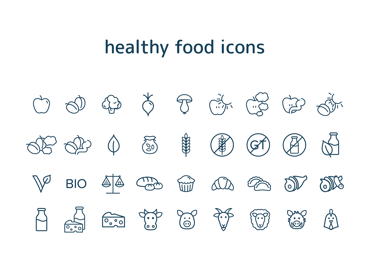 free download icon free icon Icon icons graphic design  graphic free set healthy Food