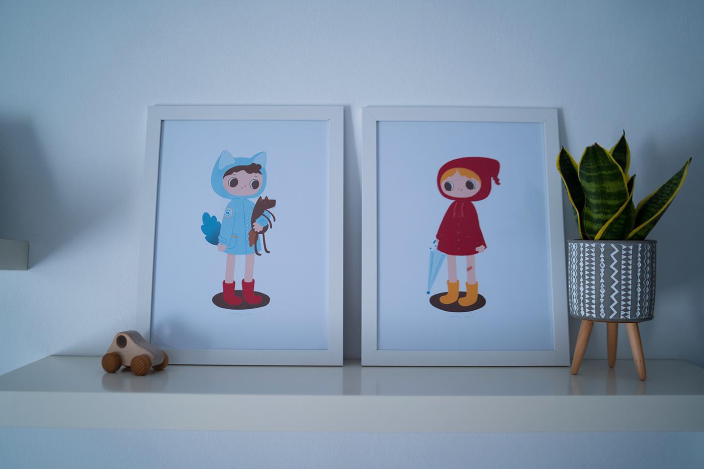 Image may contain: cartoon, wall and child art
