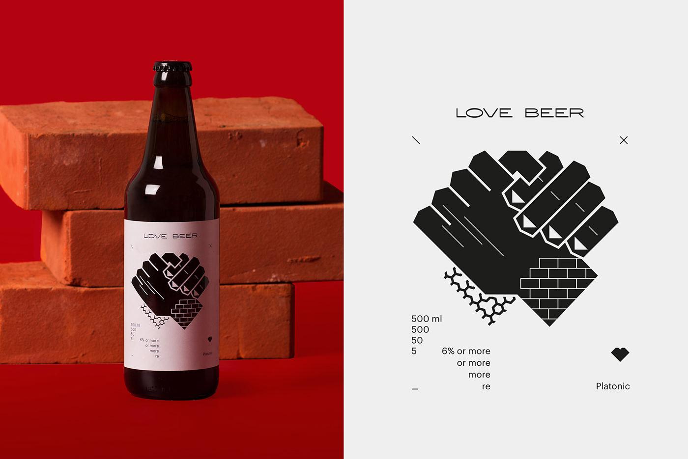 beer Love Label brand heartbreak friendship kiss black and white Monochromatic bewerage