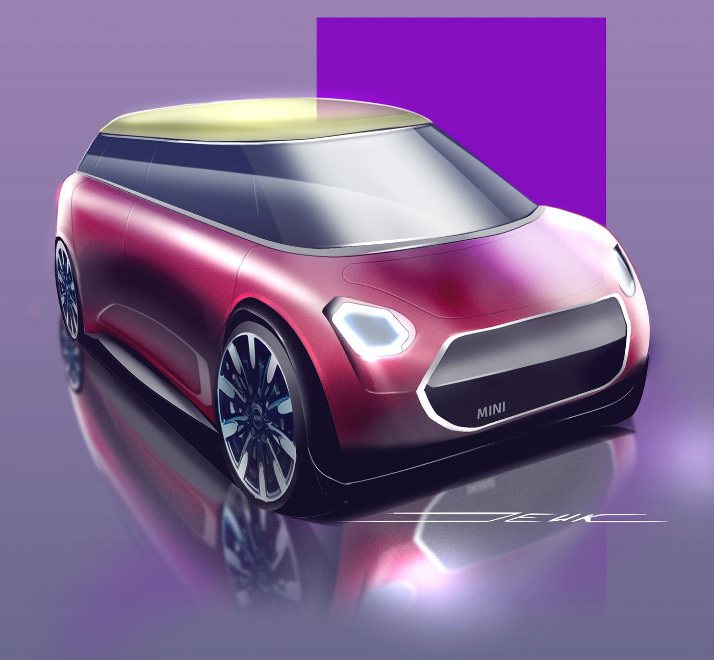 MINI  STRATEGIC STUDY AUTOMOTIVE FORM HIERARCHY on Behance 202904aa2