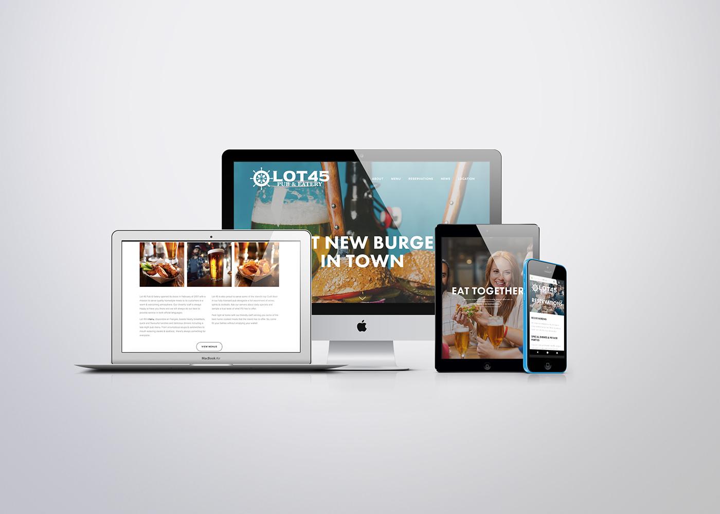 restaurant pub Web Design  nautical