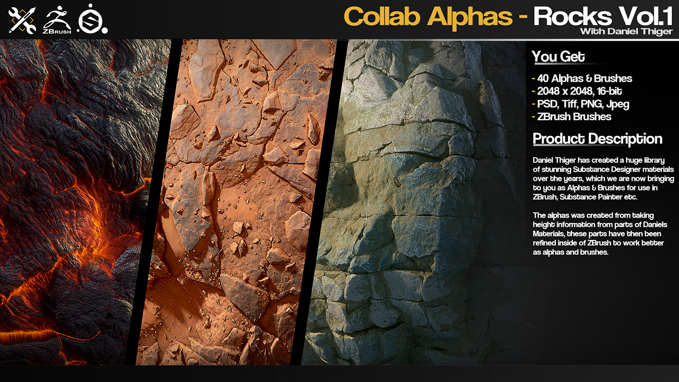 Collab Alphas - Rocks Vol 1 on Behance