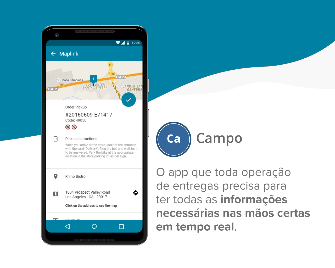 app Logistics map