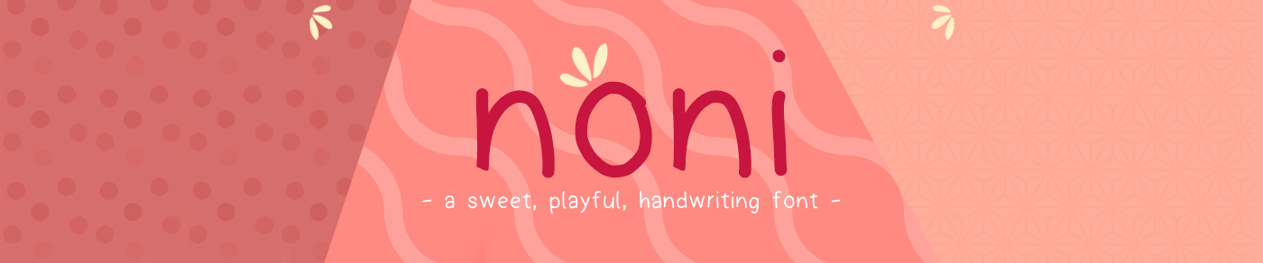 free font Typeface noni sweet letters Fun hand writen Playful freebie numbers