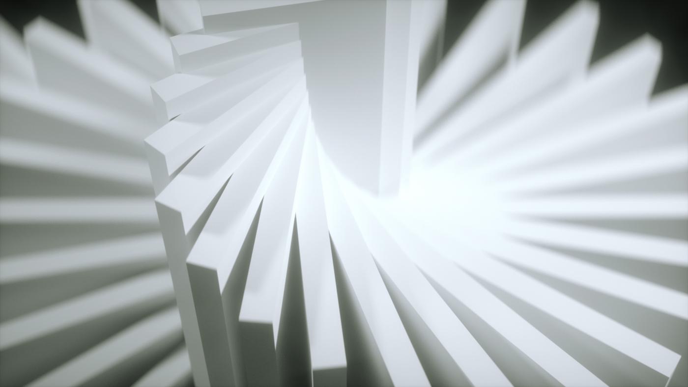simplicity experimental concept Form black White motion light beauty c4d