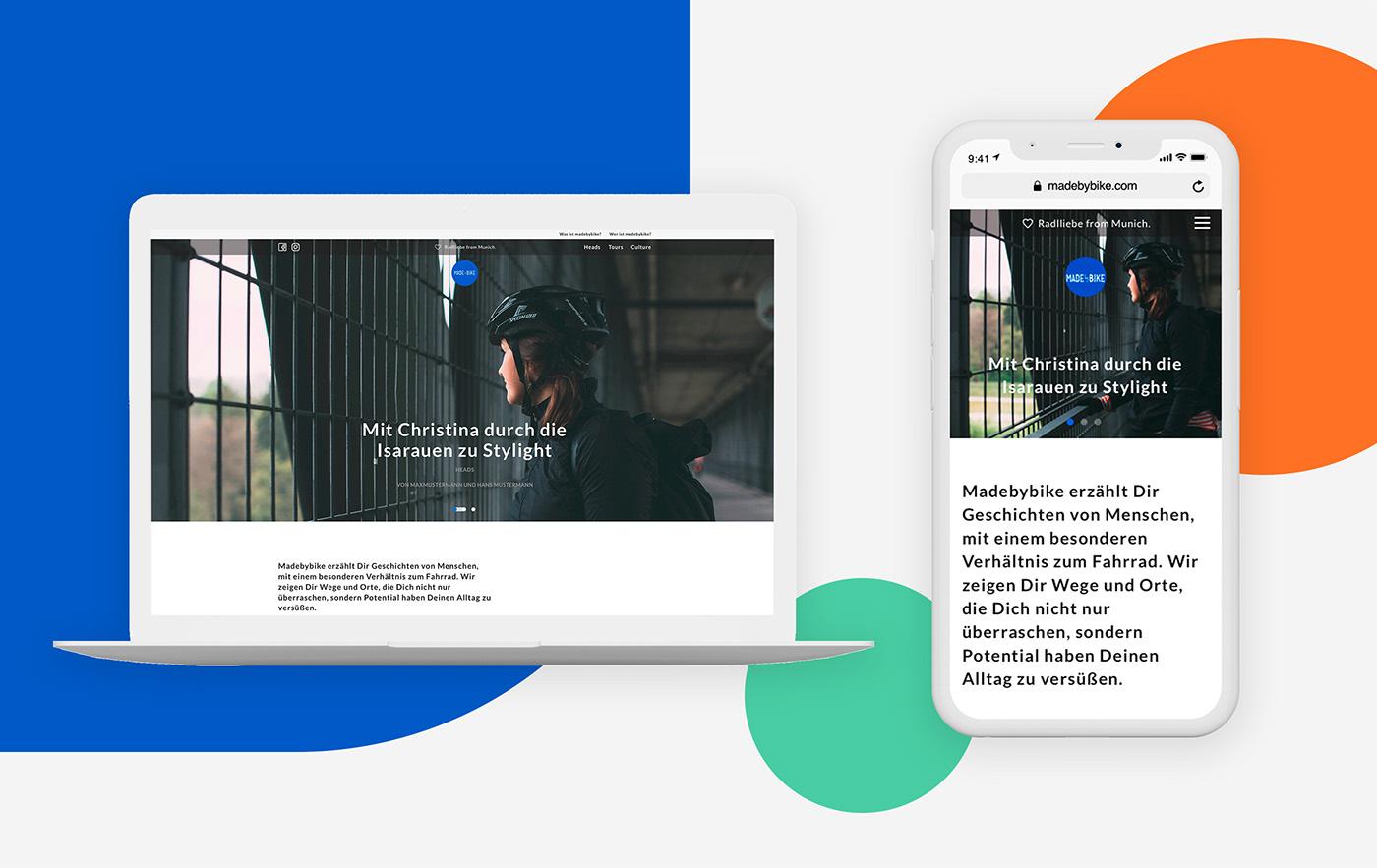 strategy ux/ui Responsive design content Blog community Cycling branding  mvp