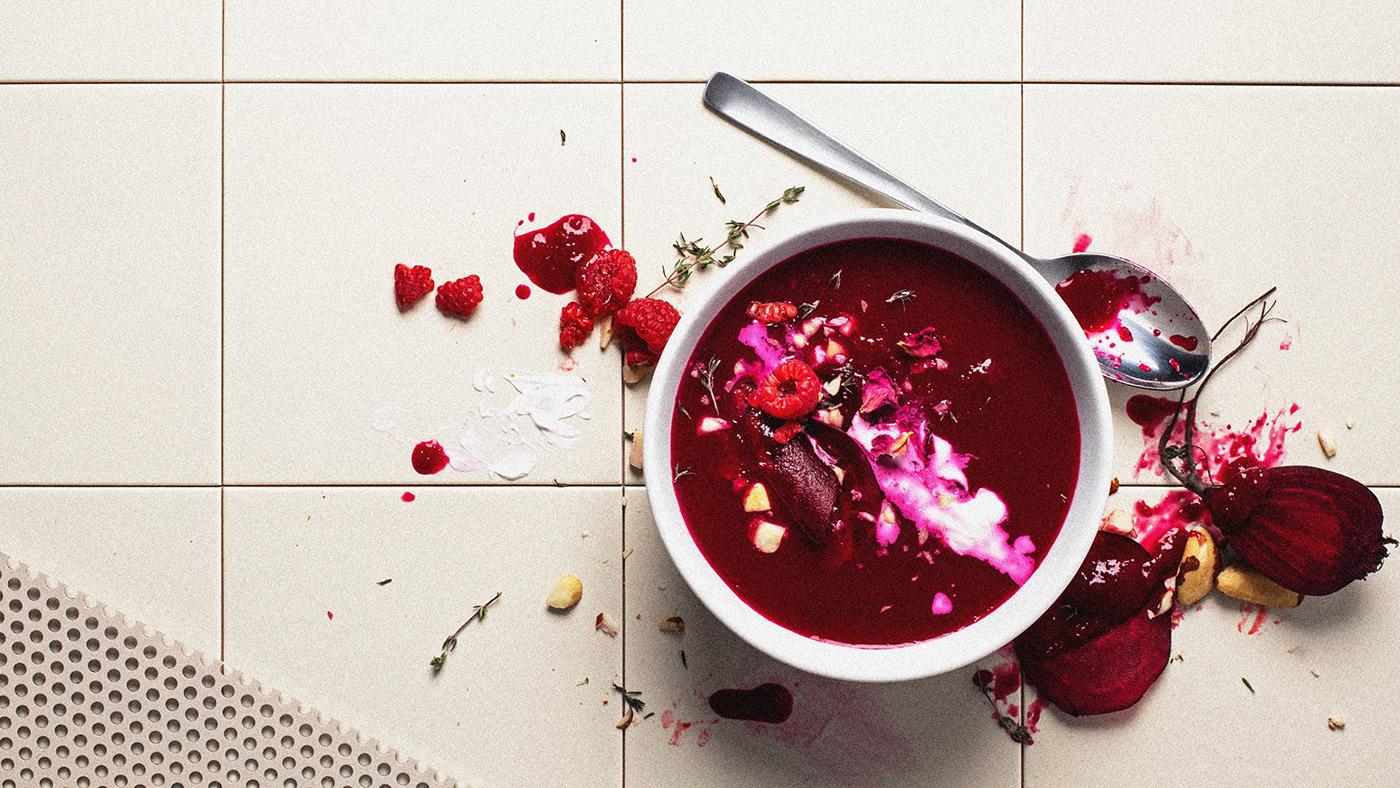 Food Photography zur Anwendung in Kommunikationsdesign z.B. Menükommunikation für In-Store Suppen