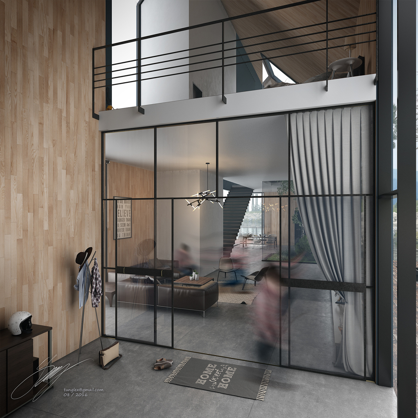 lakehouse 3dsmax Render vray Visualise architecture visualiser foggy swan