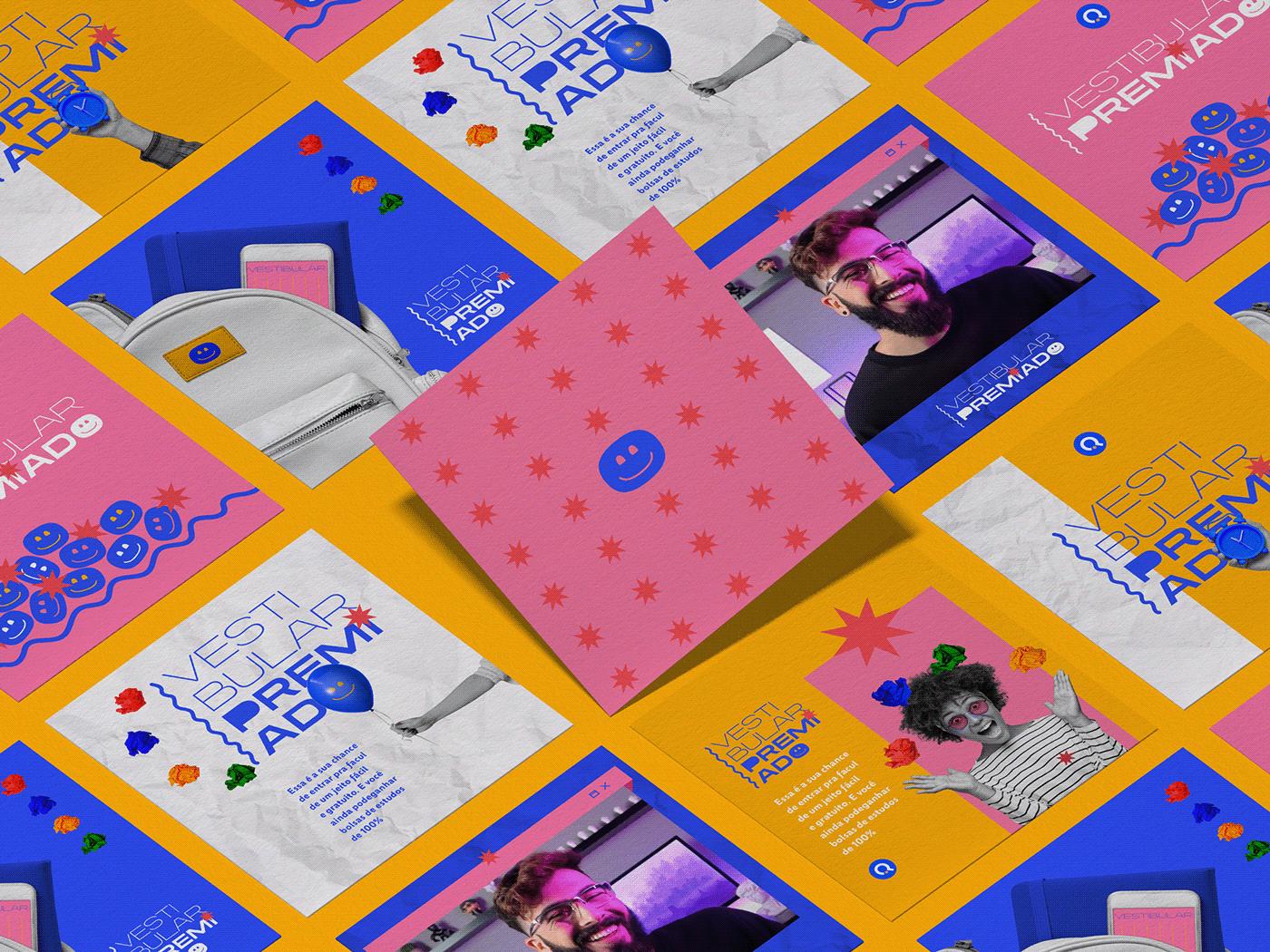 animation  brand branding  concept design Education Illustrator quero Retro vintage