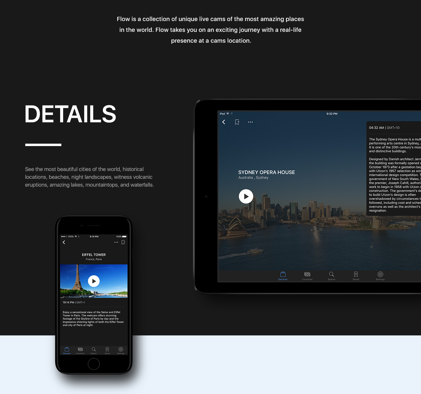 live Web CAM iphone iPad camera ios app stream flow