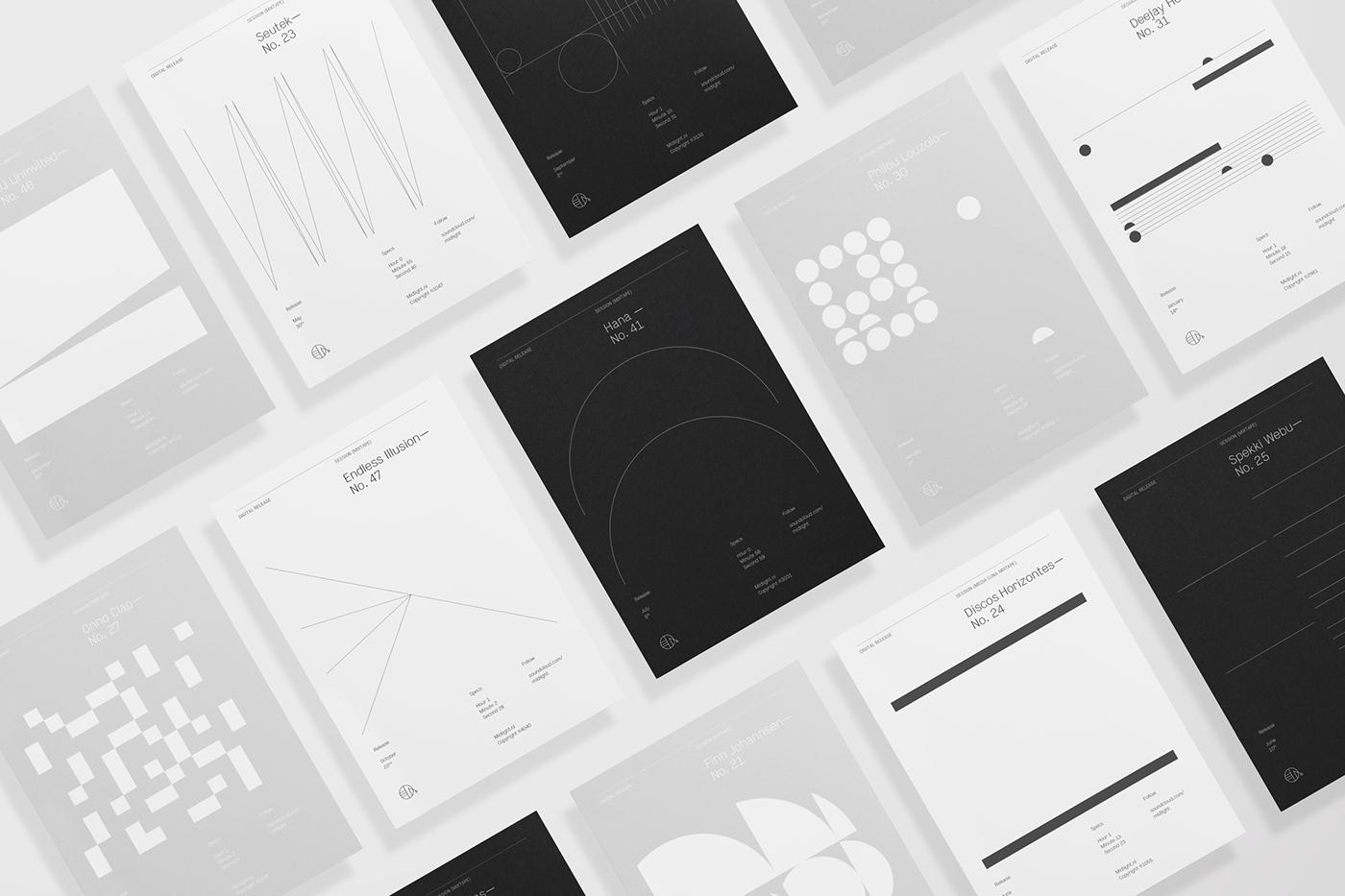 Midlight visual identity digital design branding  graphics graphic design