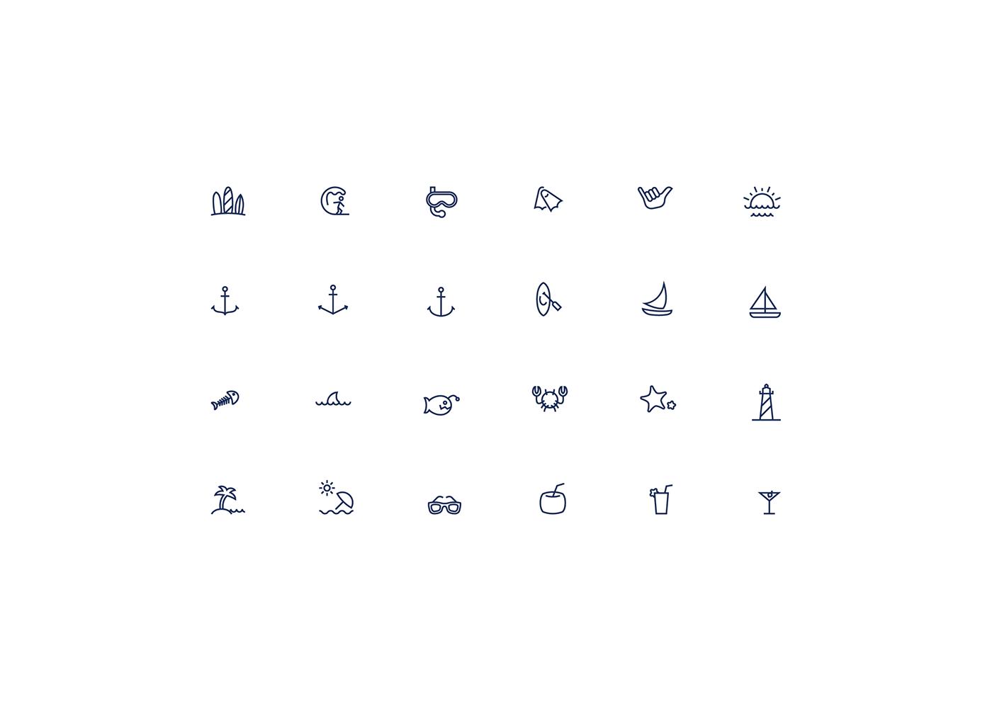 icons sea beach