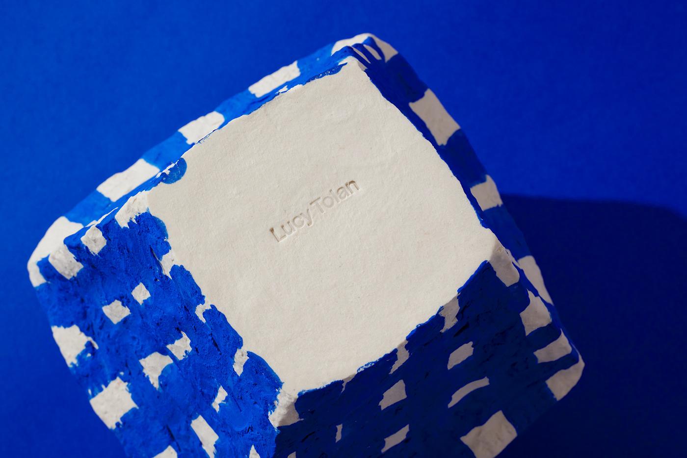 bold business card ceramic Melbourne pattern stamp tissue paper