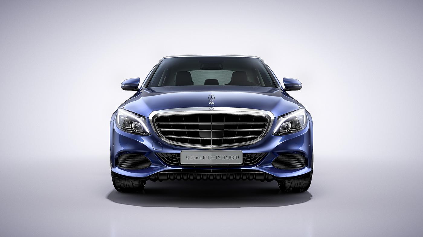 Mercedes benz c class plug in hybrid on behance for Mercedes benz c class hybrid