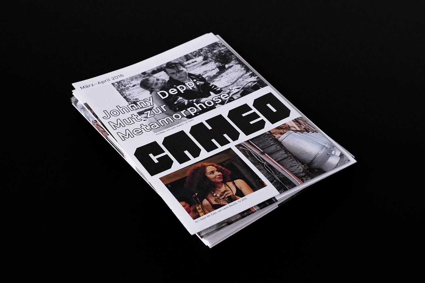 flyer poster logo Layout typography   graphic design  grid Cinema Programmflyer branding