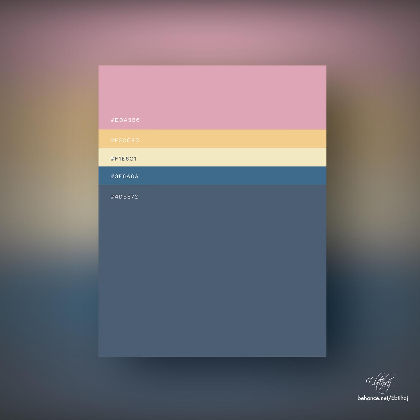 palette color poster minimal hex flat art pantone combination