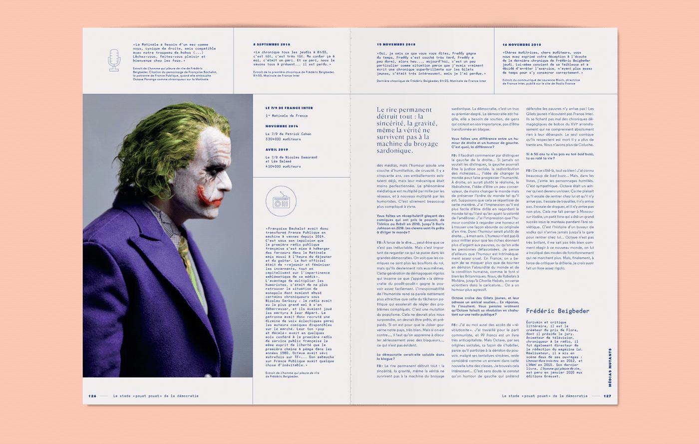 book design,cover,editorial,L'adn,lola dupre,magazine,type,typography  ,dialogue,vj-type