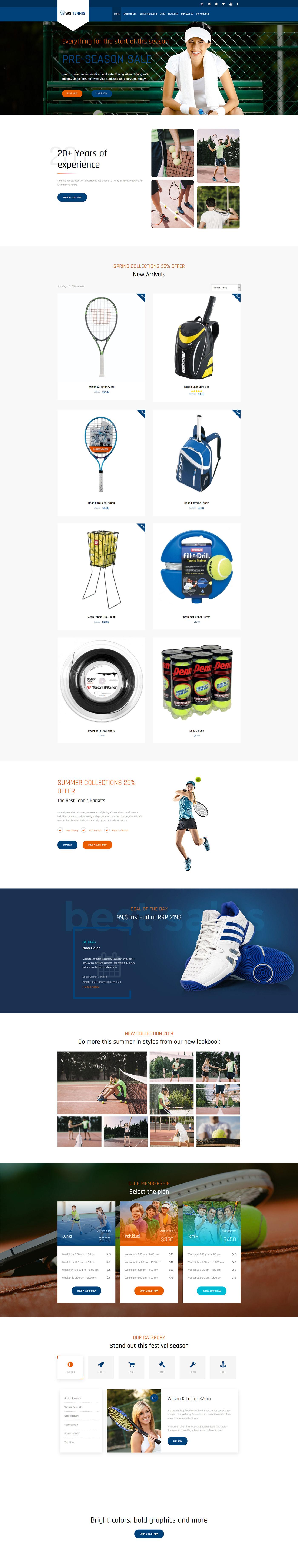 wordpress sports theme wordpress tennis theme