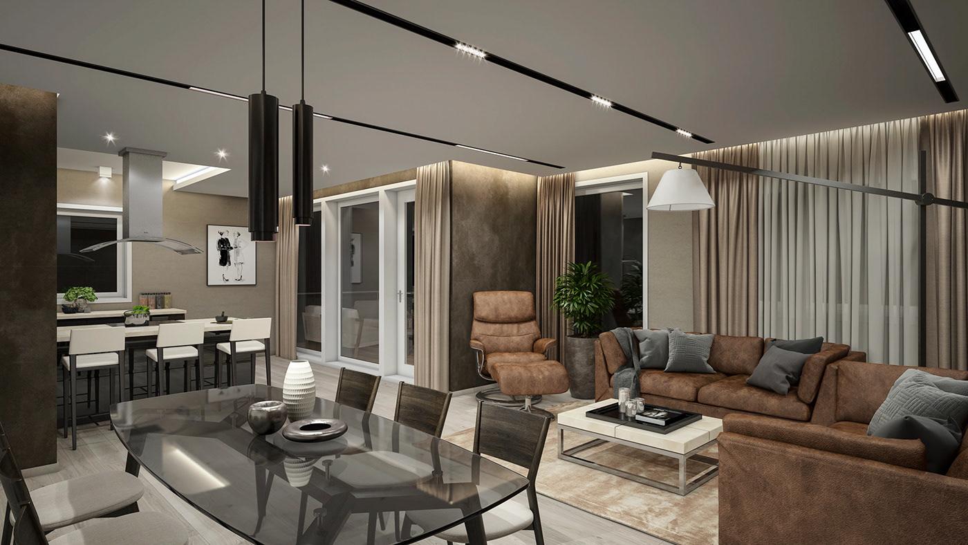 Luxury Apartment interior design! on Behance