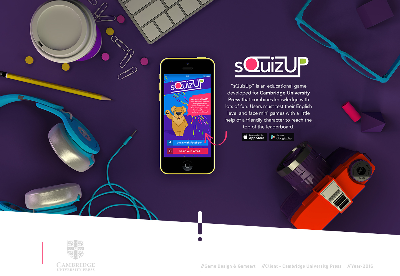 Game Character Design Apps : Game design and interaction design: cambridge squizup
