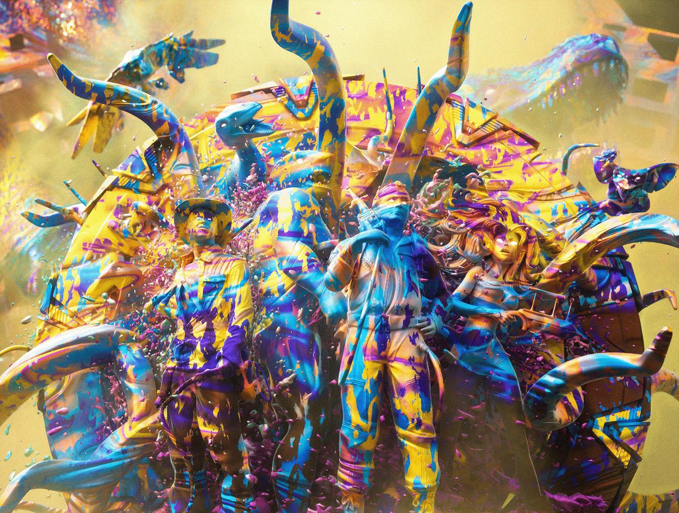 chaos color fantasy Love Movies sci-fi tv