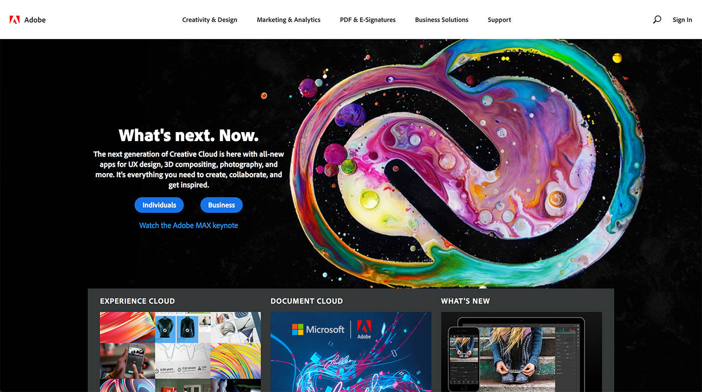 Adobe Creative Cloud 2018 on Behance