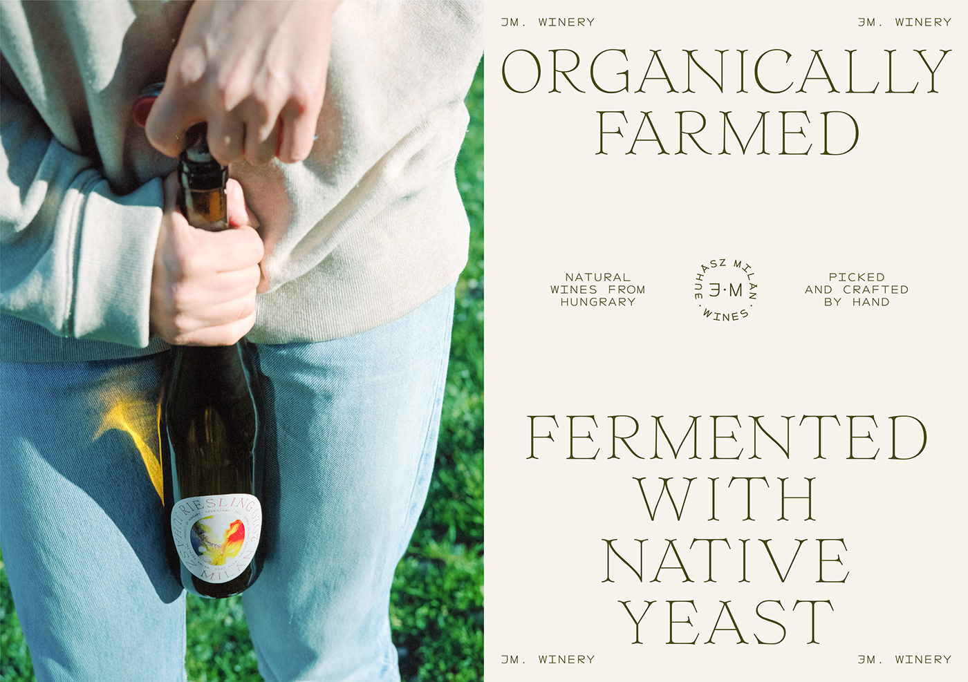 bottle experimental Label natural organic package tyopgraphy vineyard wine winery