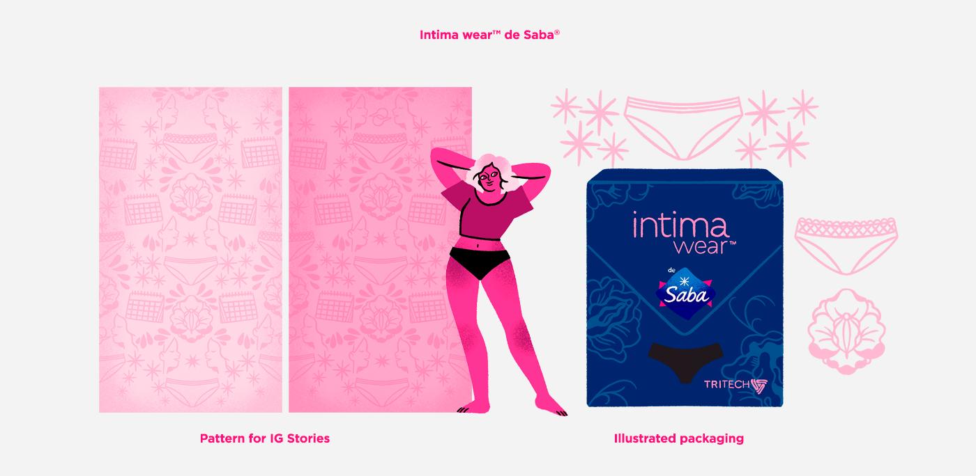 higiene mestruacion mexicanas pad panties saba sanitary pad Toallas toallas femeninas