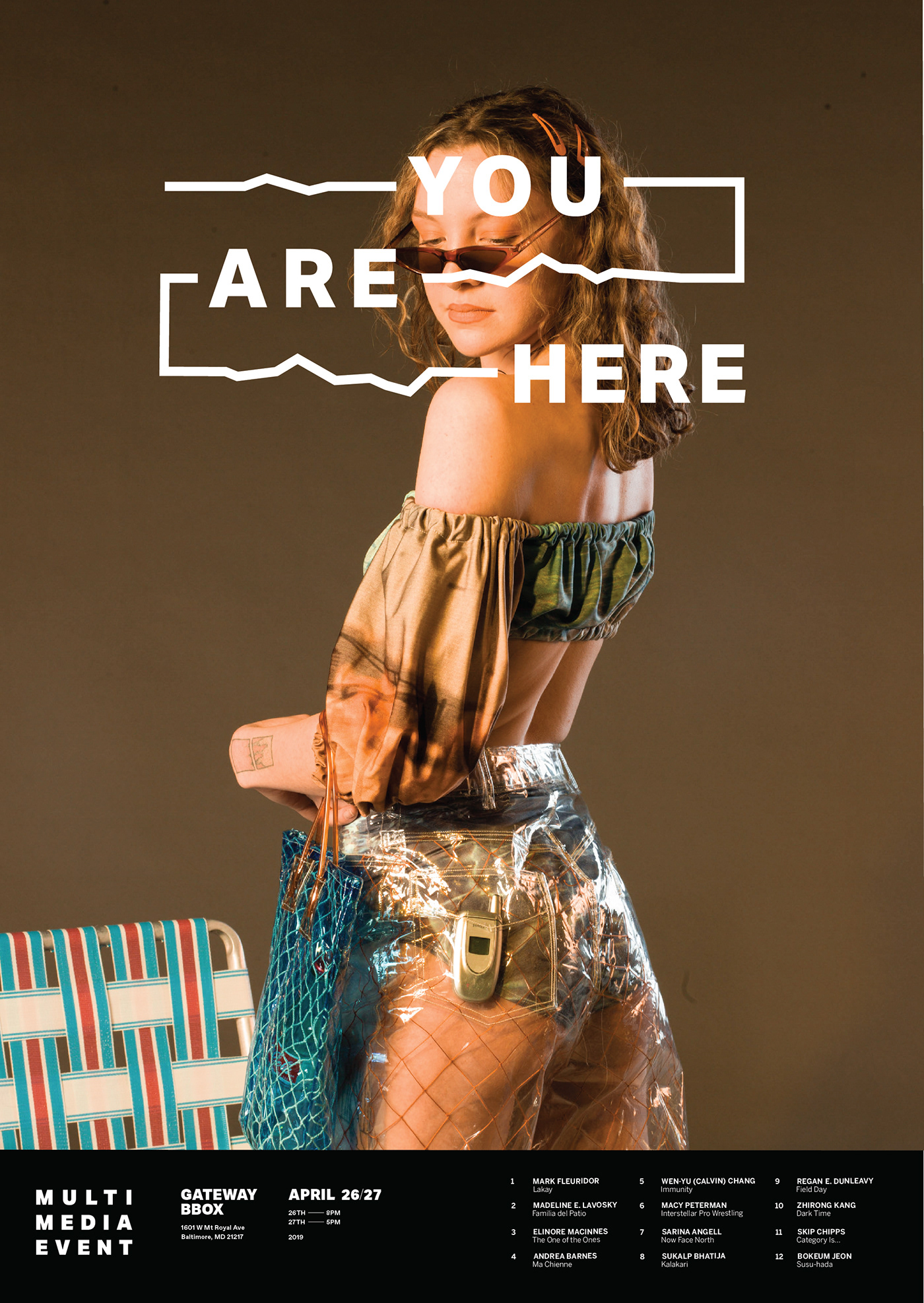 branding  fashion show experimental fashion You Are Here MICA book design Photography  typography
