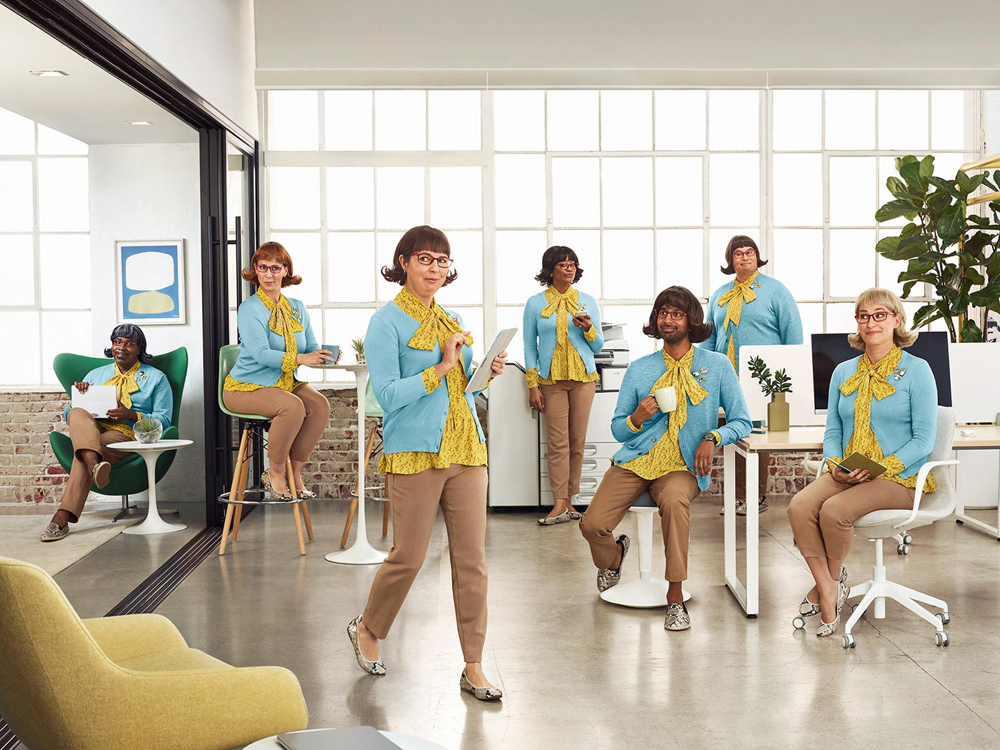 Advertising  campaign computers conceptual creative funny humor Office software agca