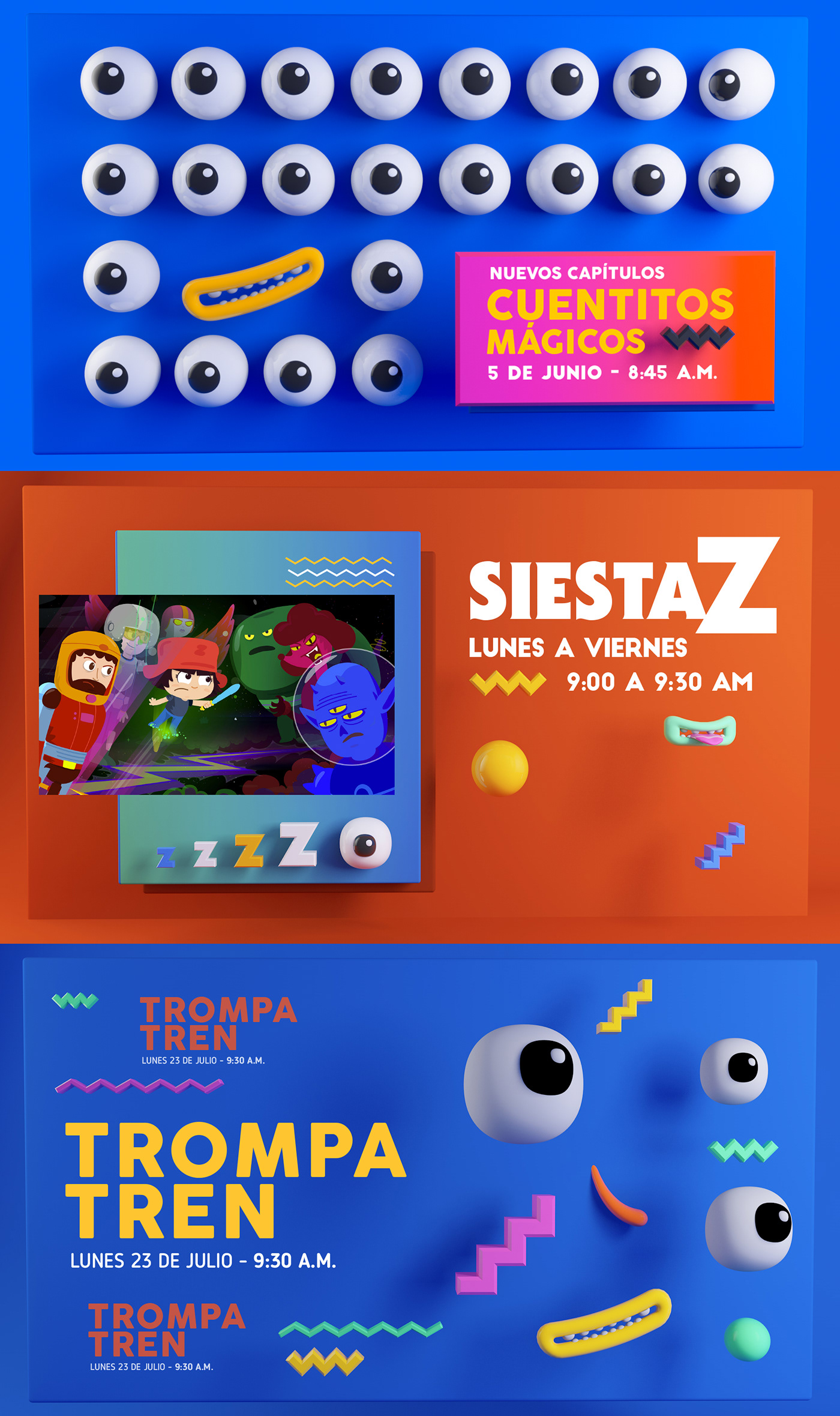 Miseñal señal colombia Character design animation  tv colors