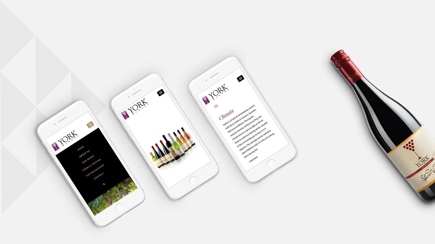 york winery Winery website Website Wine UI Startup Farms