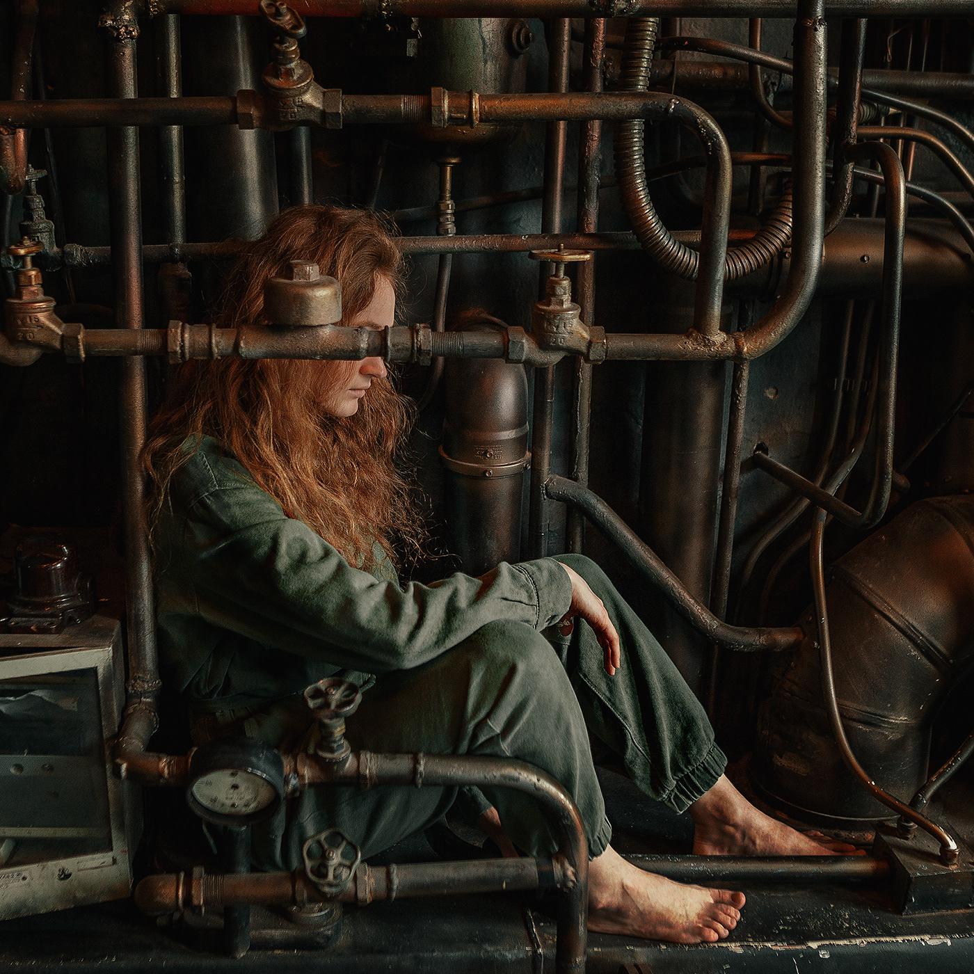 dark future girl metal model photographer rast steel Valve