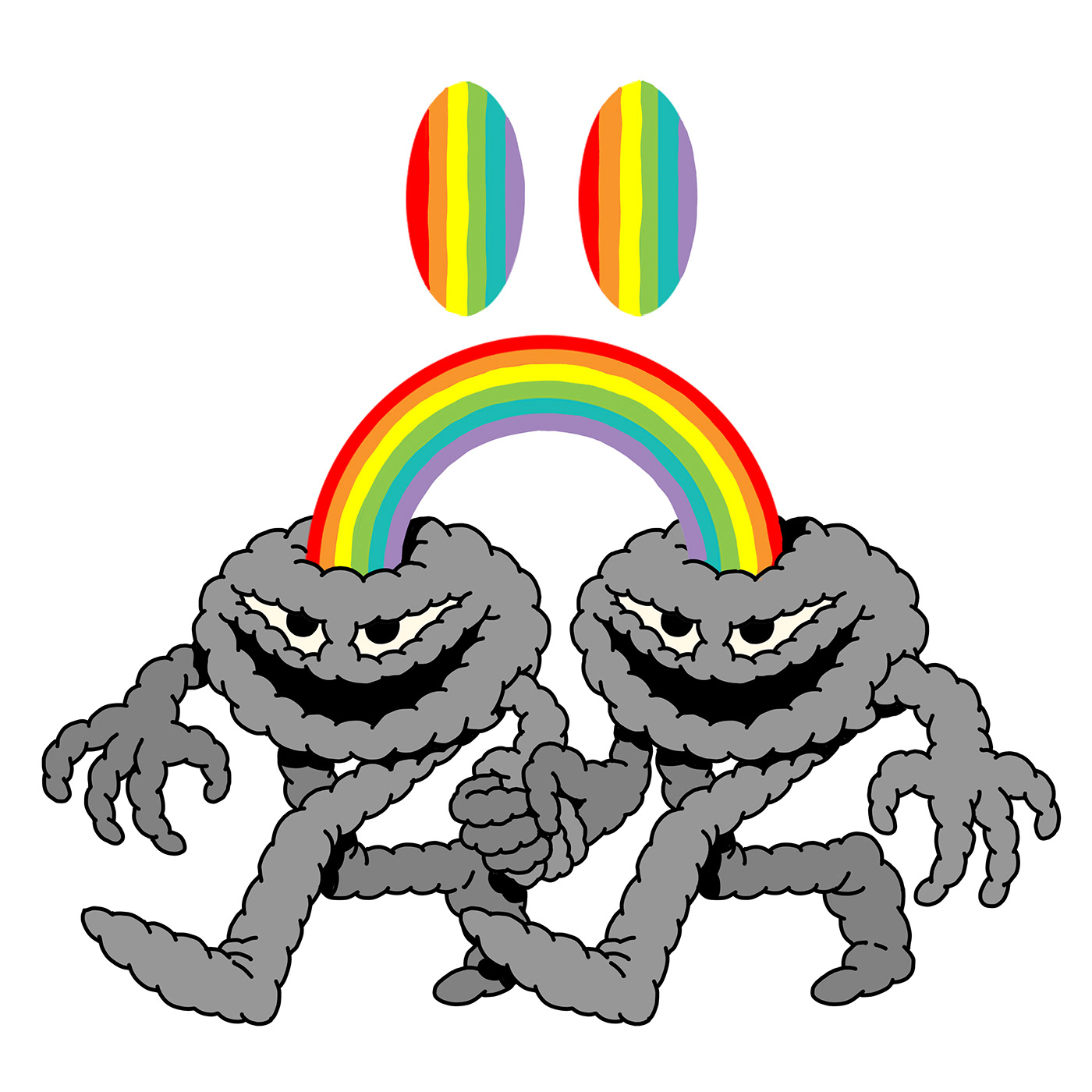 Image may contain: rainbow