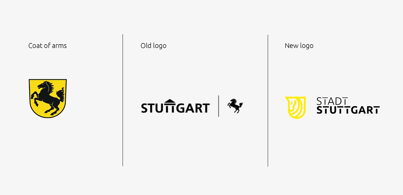 brand branding  city coatofamrs colors germany herlady logo stuttgart